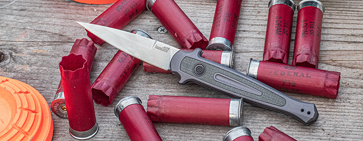 Kershaw automatic with shotgun shells